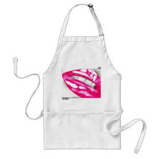 Delantal caliente de los labios (rosa)