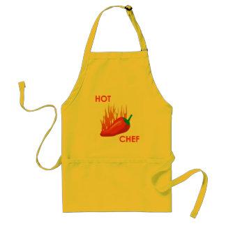 delantal caliente del cocinero