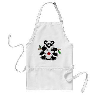 Delantal canadiense de la panda