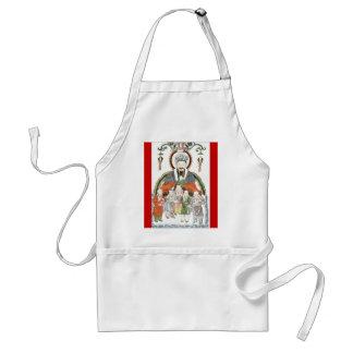 Delantal chino de dios de la cocina de Zao junio