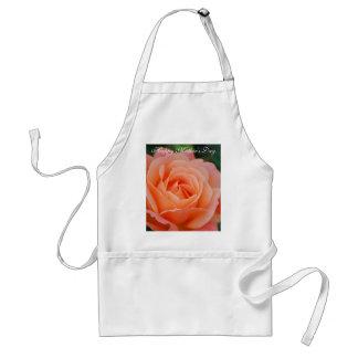 Delantal color de rosa anaranjado feliz del día de