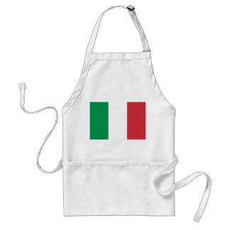 Delantal con la bandera de Italia