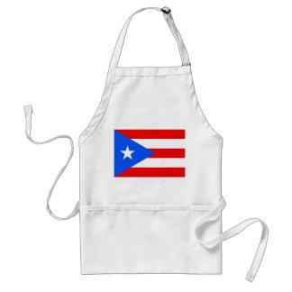 Delantal con la bandera de Puerto Rico, los E.E.U.