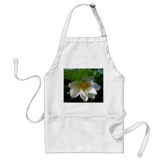 Delantal con la flor de Lotus blanco delicada