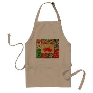 Delantal con la impresión vegetal