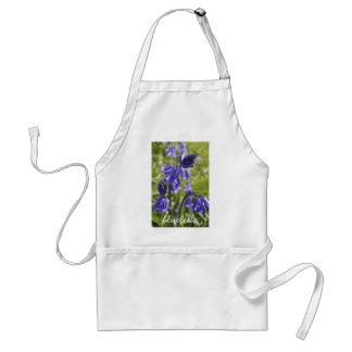 Delantal con las flores del bluebell