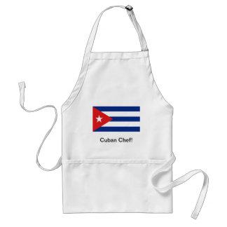 Delantal cubano del cocinero de la bandera