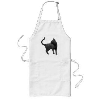 Delantal dañoso del gato negro