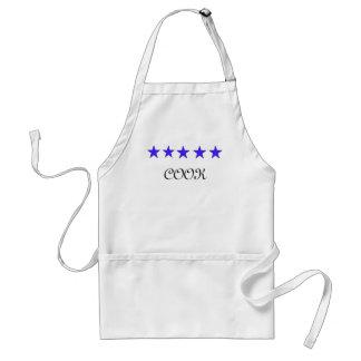 delantal de cinco estrellas del cocinero