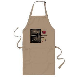 Delantal de cocinar largo del cocinero musical