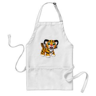 delantal de Cub de tigre del dibujo animado 3D