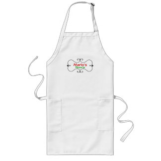 Delantal de encargo italiano del cocinero