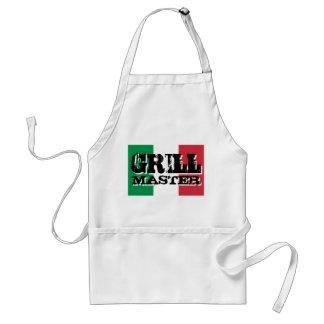 Delantal de Grill Master con la bandera italiana