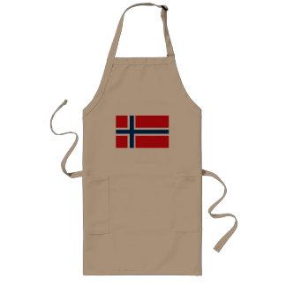 Delantal de la bandera de Noruega