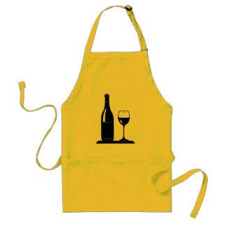 Delantal de la botella de copa de vino