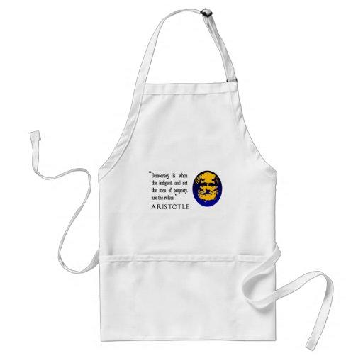 Delantal de la cita de Aristóteles, kitchenwear