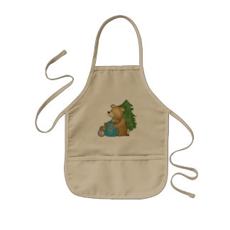 Delantal de la cocina del campista del oso que aca