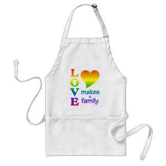 Delantal de la familia del arco iris - elija el es