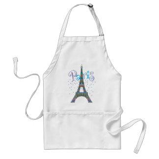 Delantal de la fantasía de la torre Eiffel