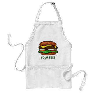 Delantal de la hamburguesa