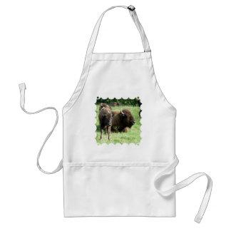 Delantal de la imagen del búfalo
