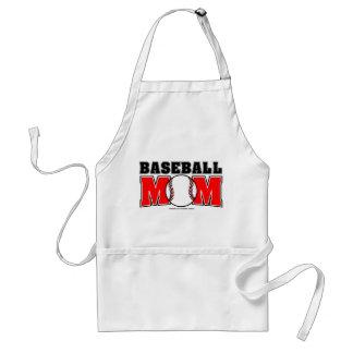Delantal de la mamá del béisbol