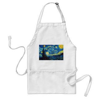 Delantal de la noche estrellada de Van Gogh