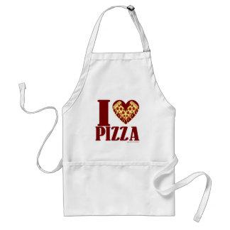 Delantal de la pizza del corazón I