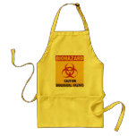 Delantal de la señal de peligro del Biohazard