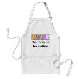 Delantal de la tabla periódica del cafeína