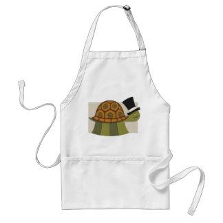 Delantal de la tortuga del sombrero de copa