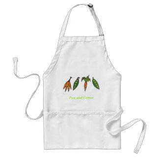 Delantal de los guisantes y de las zanahorias