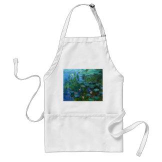 Delantal de los lirios de agua de Monet Nympheas