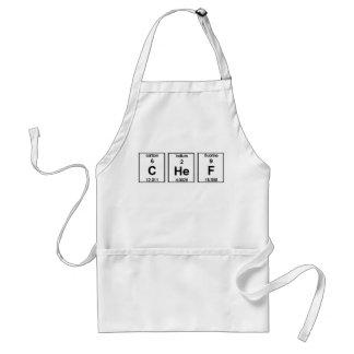 Delantal de los símbolos del elemento del cocinero