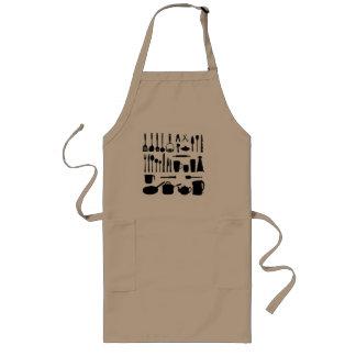 Delantal de los utensilios de la cocina