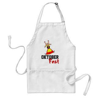 Delantal de Oktoberfest de la camarera del baile