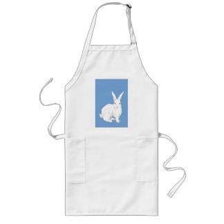 Delantal del azul del conejo