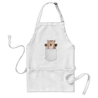 Delantal del bolsillo del gato