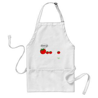 Delantal del chiste de la salsa de tomate