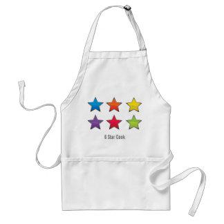 Delantal del cocinero de 6 estrellas