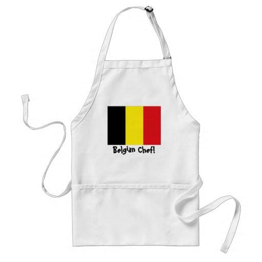 Delantal del cocinero de la bandera de Bélgica
