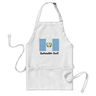 Delantal del cocinero de la bandera de Guatemala