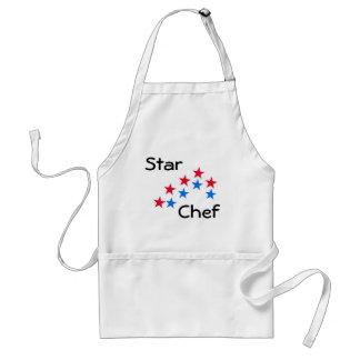 Delantal del cocinero de la estrella