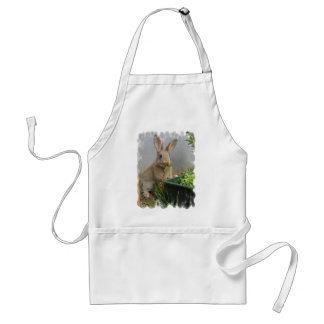 Delantal del conejo de conejo de rabo blanco