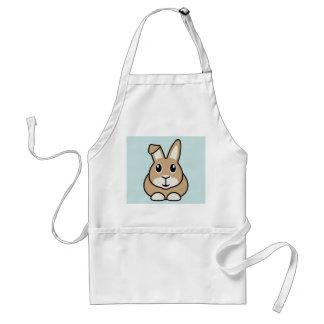 Delantal del conejo del dibujo animado