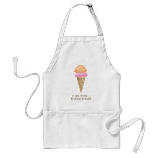 Delantal del cono de helado