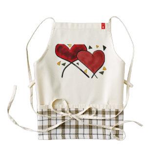 Delantal del corazón de los bombardeos delantal zazzle HEART