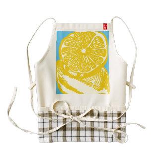 Delantal del CORAZÓN de Zazzle del limón Delantal Zazzle HEART