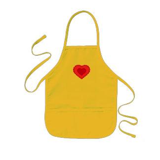 Delantal del corazón del amor de los niños