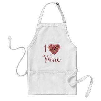 Delantal del corazón del corcho del vino
